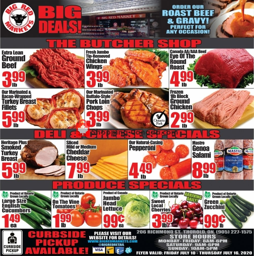 Flyer Big Red Markets Canada - from Friday July 10, 2020 to Thursday July 16, 2020