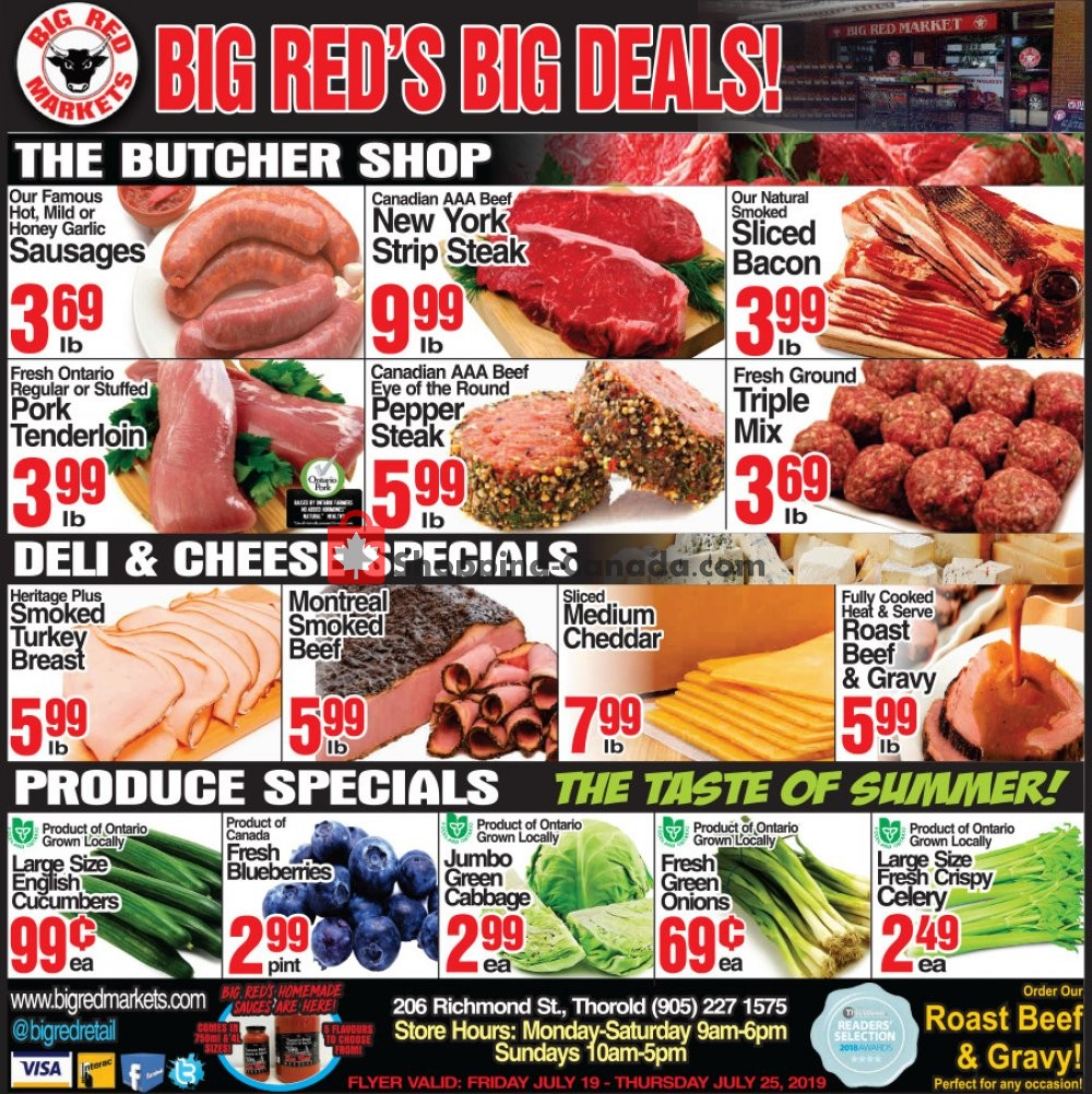 Flyer Big Red Markets Canada - from Friday July 19, 2019 to Thursday July 25, 2019