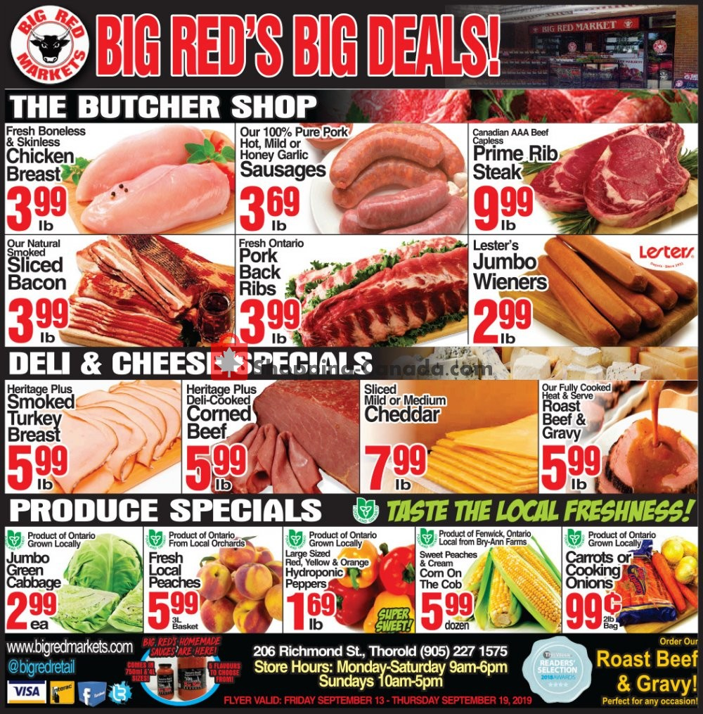 Flyer Big Red Markets Canada - from Friday September 13, 2019 to Thursday September 19, 2019