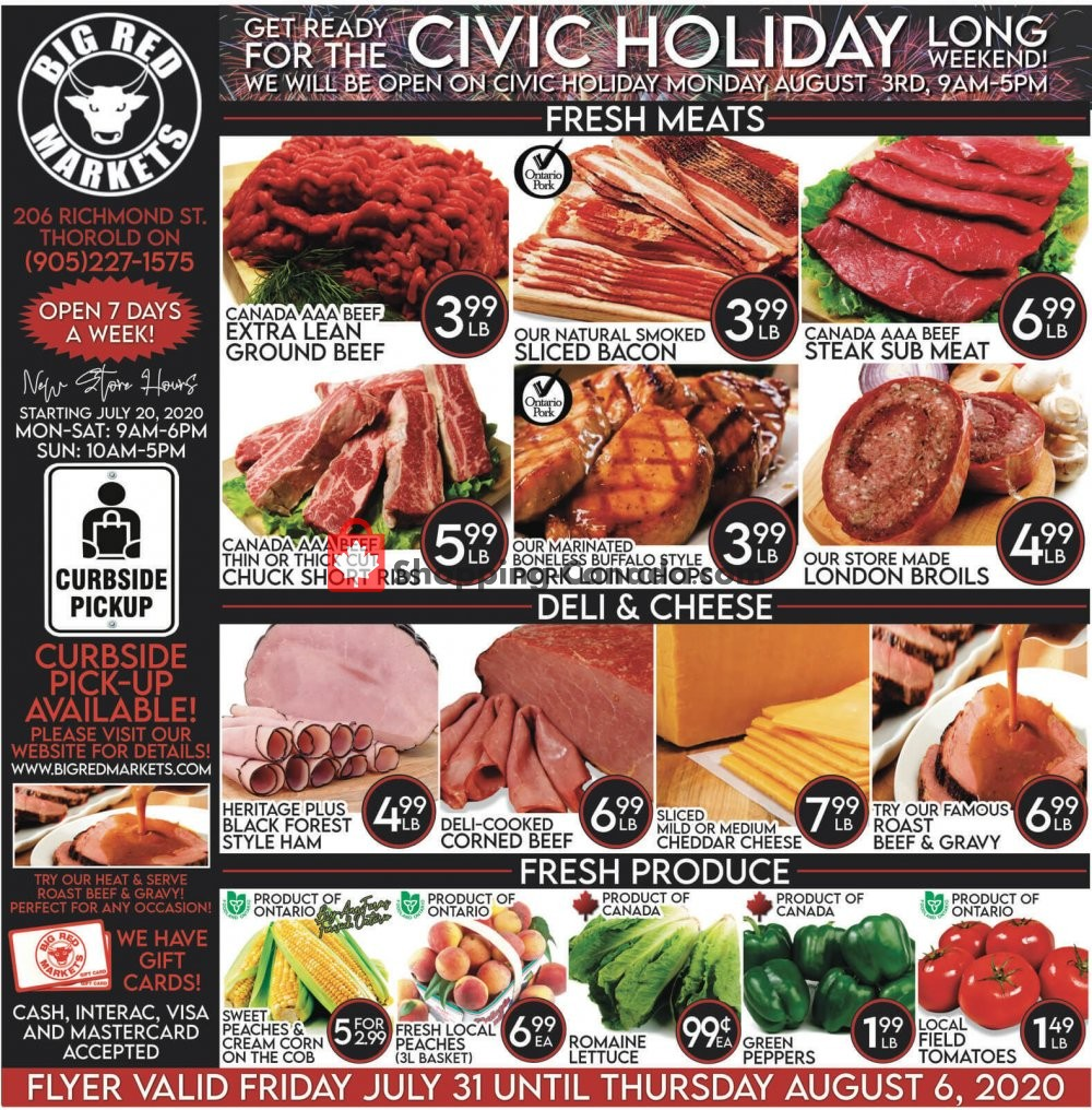 Flyer Big Red Markets Canada - from Friday July 31, 2020 to Thursday August 6, 2020