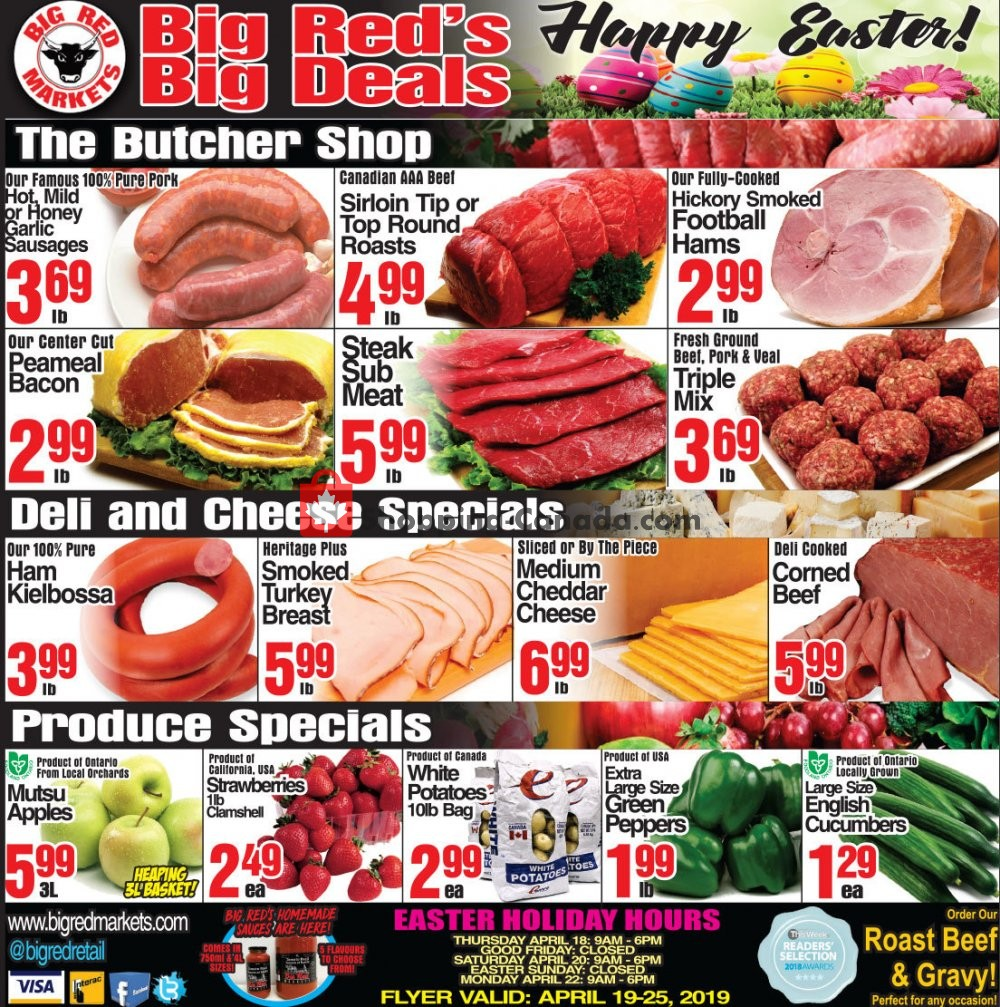 Flyer Big Red Markets Canada - from Friday April 19, 2019 to Thursday April 25, 2019