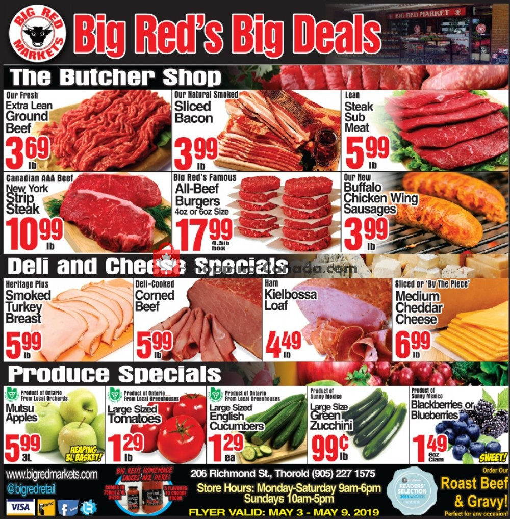 Flyer Big Red Markets Canada - from Friday May 3, 2019 to Thursday May 9, 2019