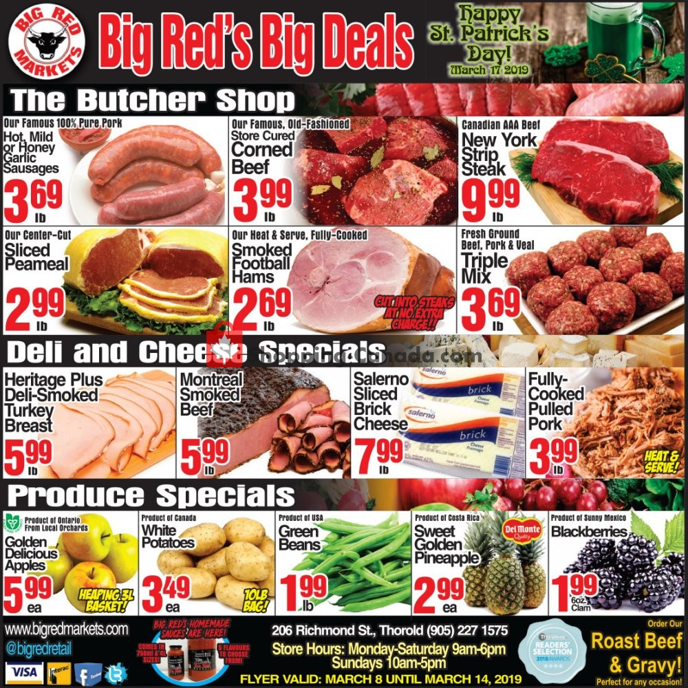 Flyer Big Red Markets Canada - from Friday March 8, 2019 to Thursday March 14, 2019
