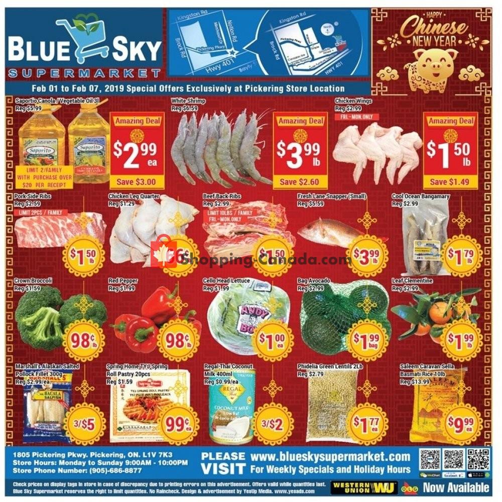 Flyer Blue Sky Supermarket Canada - from Friday February 1, 2019 to Thursday February 7, 2019