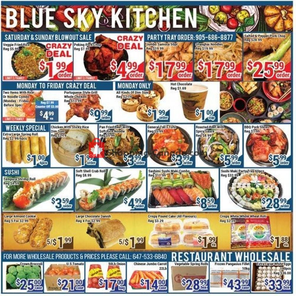 Flyer Blue Sky Supermarket Canada - from Friday October 12, 2018 to Thursday October 18, 2018