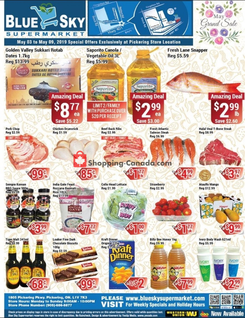 Flyer Blue Sky Supermarket Canada - from Friday May 3, 2019 to Thursday May 9, 2019