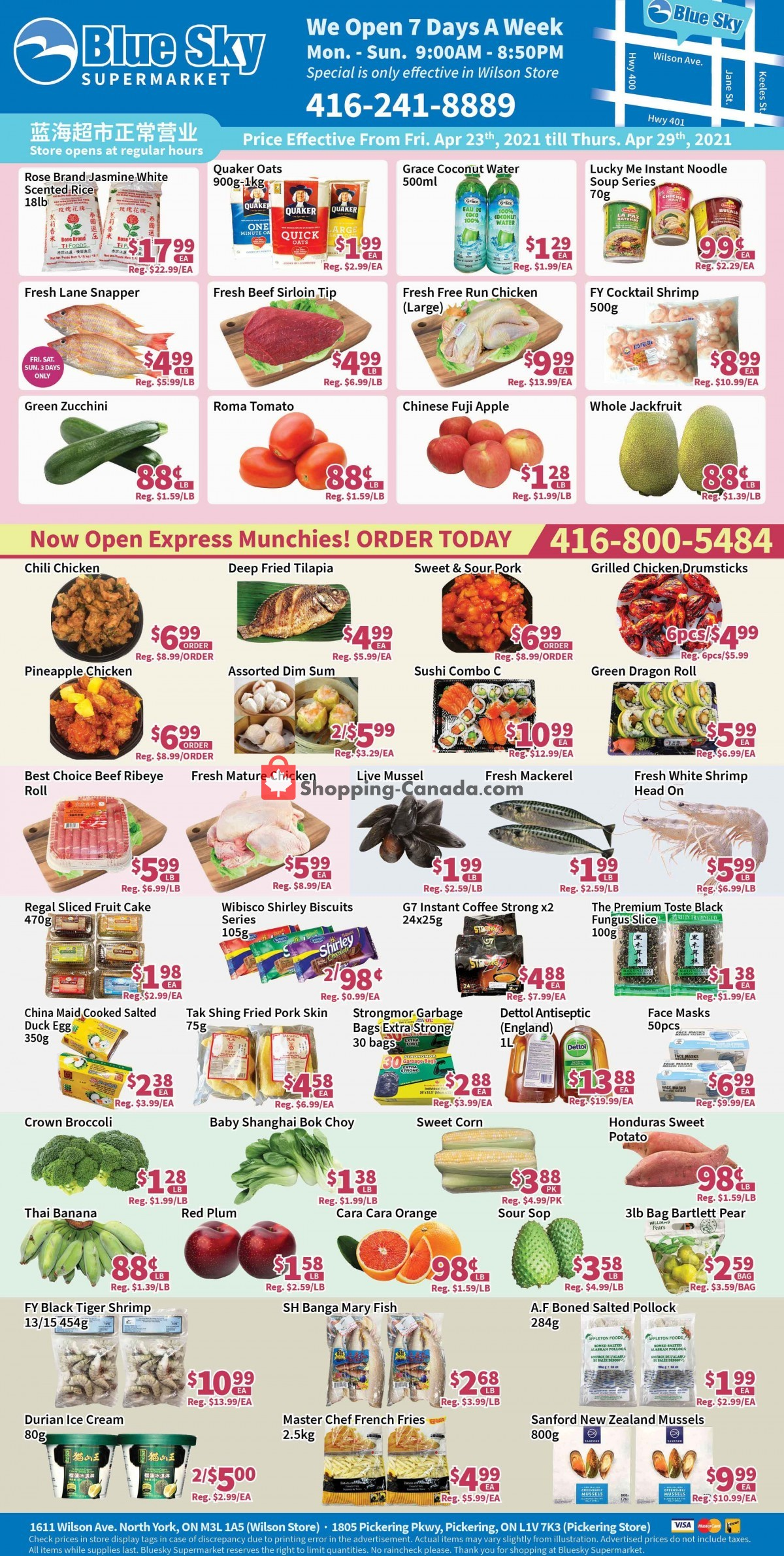 Flyer Blue Sky Supermarket Canada - from Friday April 23, 2021 to Thursday April 29, 2021
