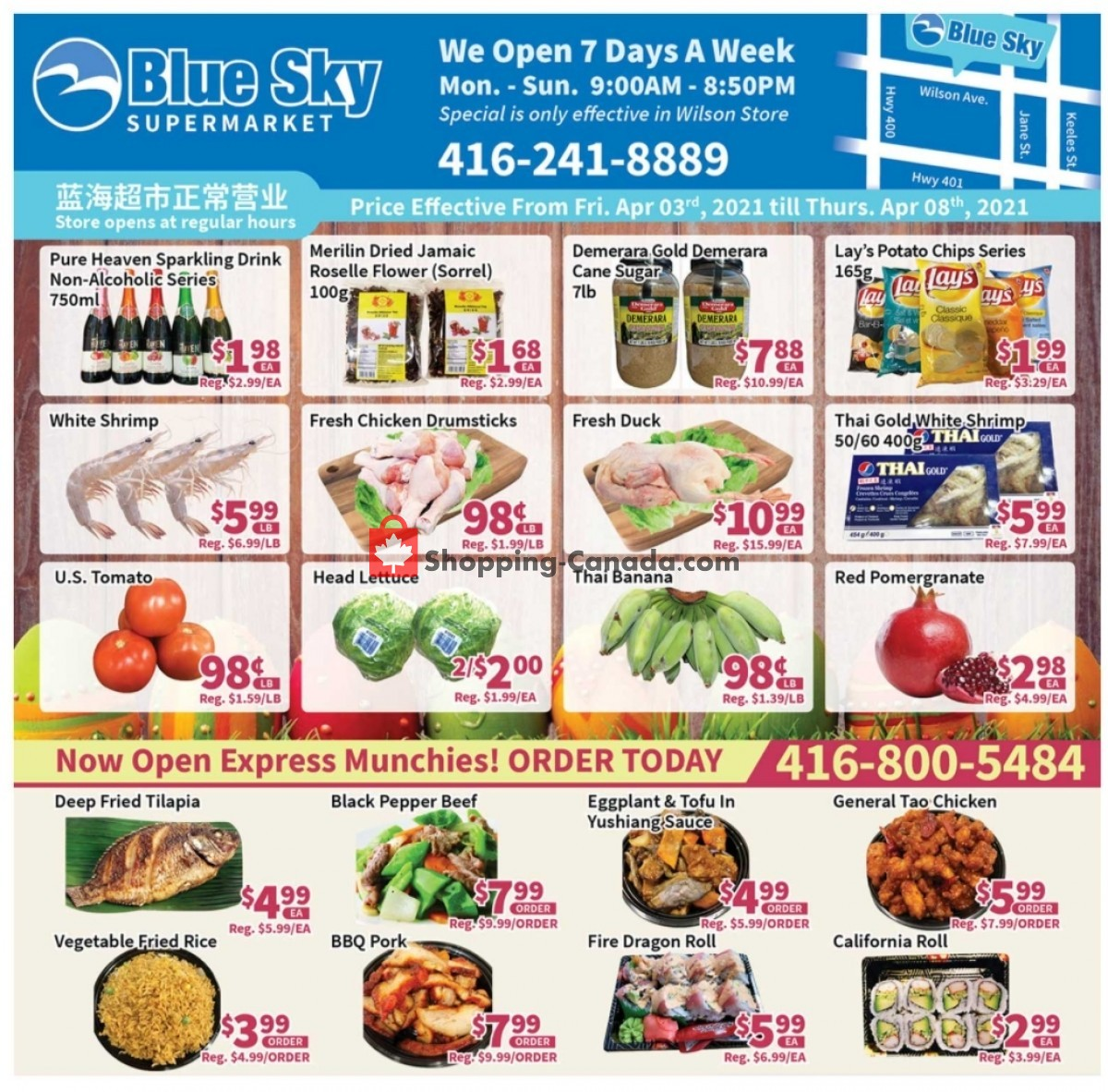 Flyer Blue Sky Supermarket Canada - from Saturday April 3, 2021 to Thursday April 8, 2021