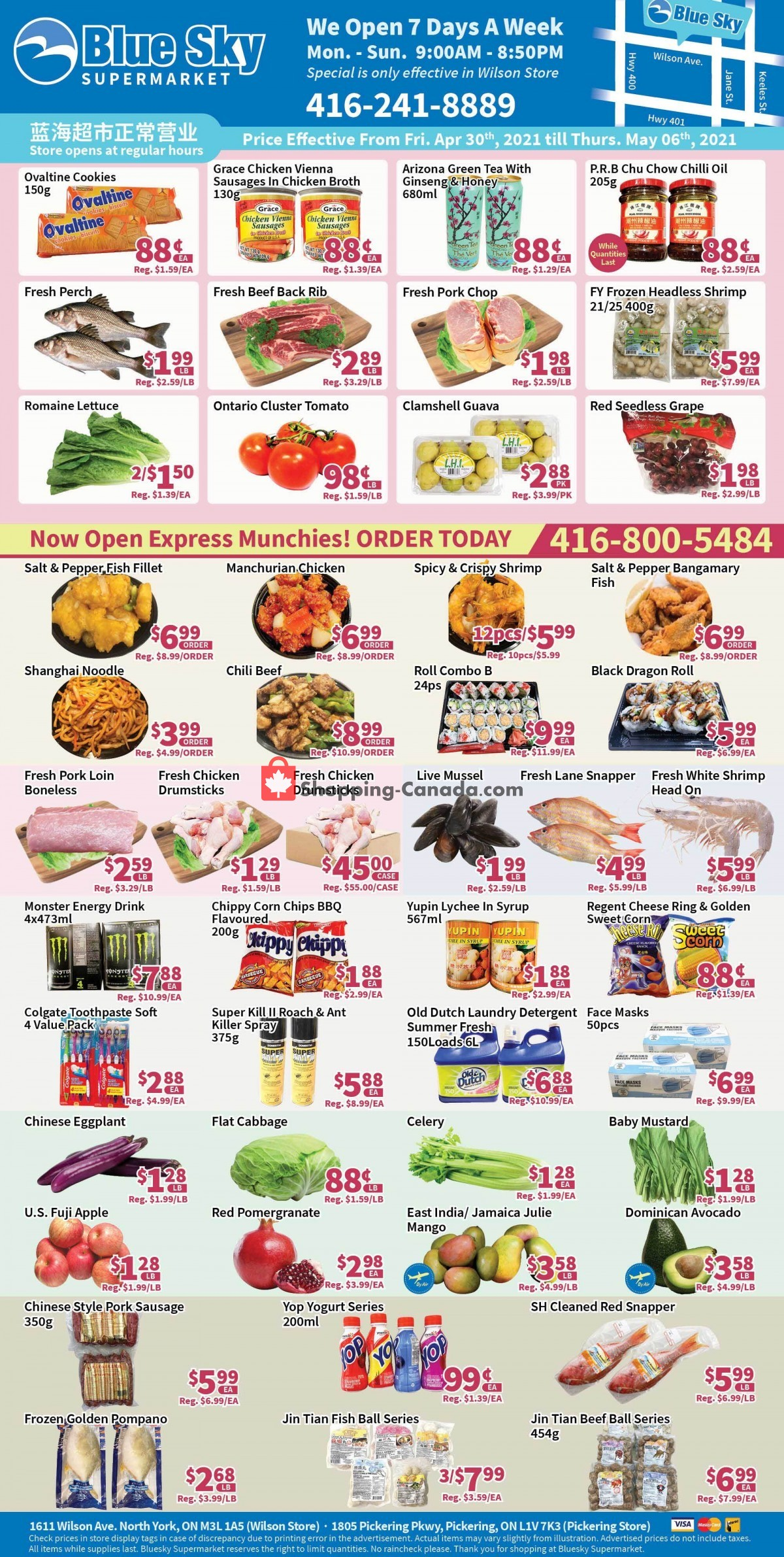 Flyer Blue Sky Supermarket Canada - from Friday April 30, 2021 to Thursday May 6, 2021