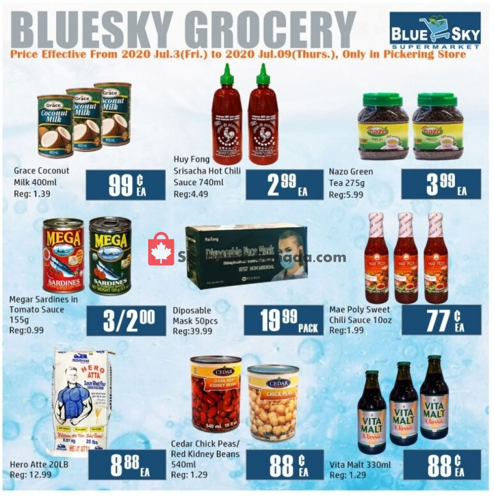 Flyer Blue Sky Supermarket Canada - from Friday July 3, 2020 to Thursday July 9, 2020