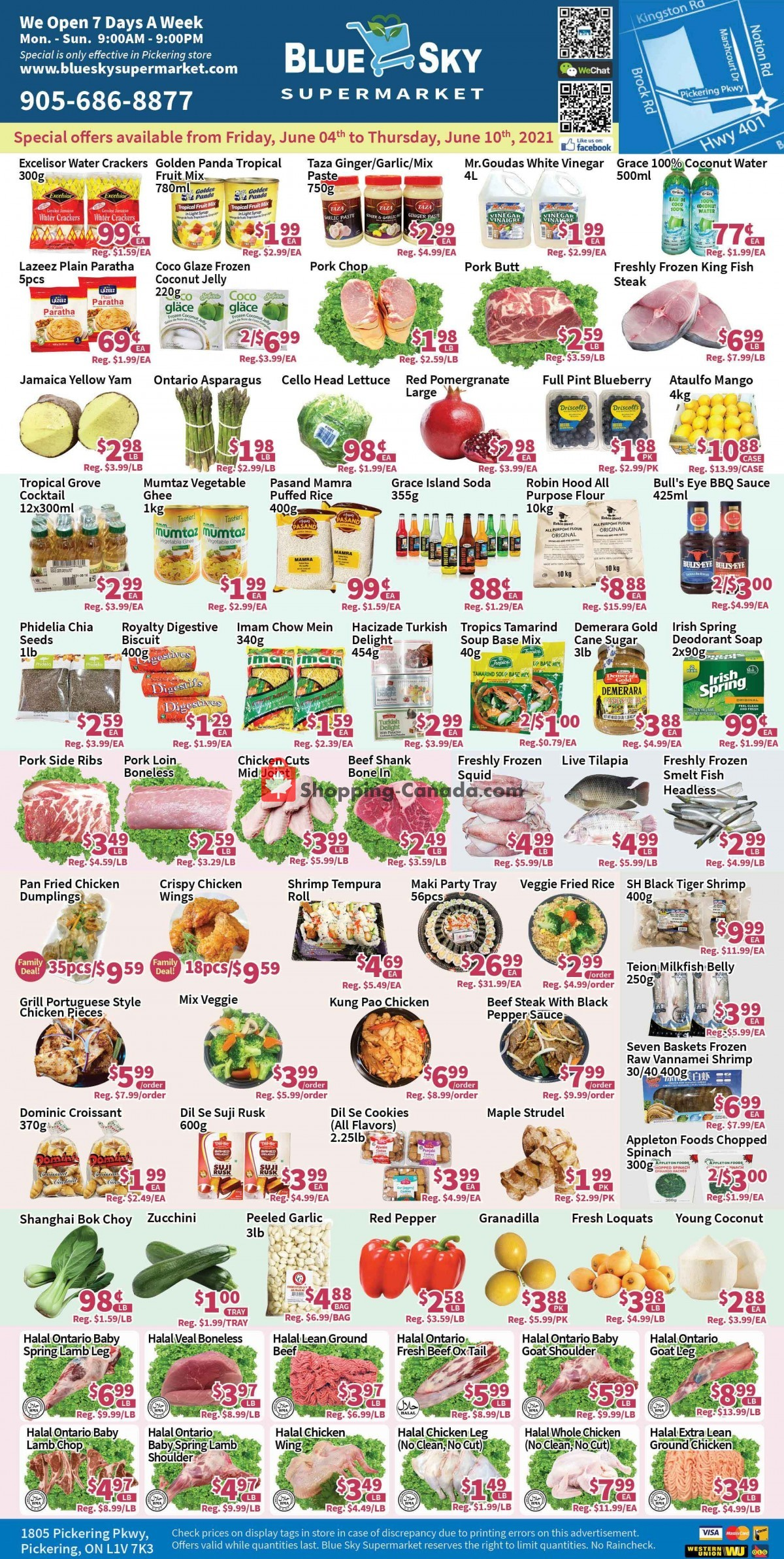 Flyer Blue Sky Supermarket Canada - from Friday June 4, 2021 to Thursday June 10, 2021