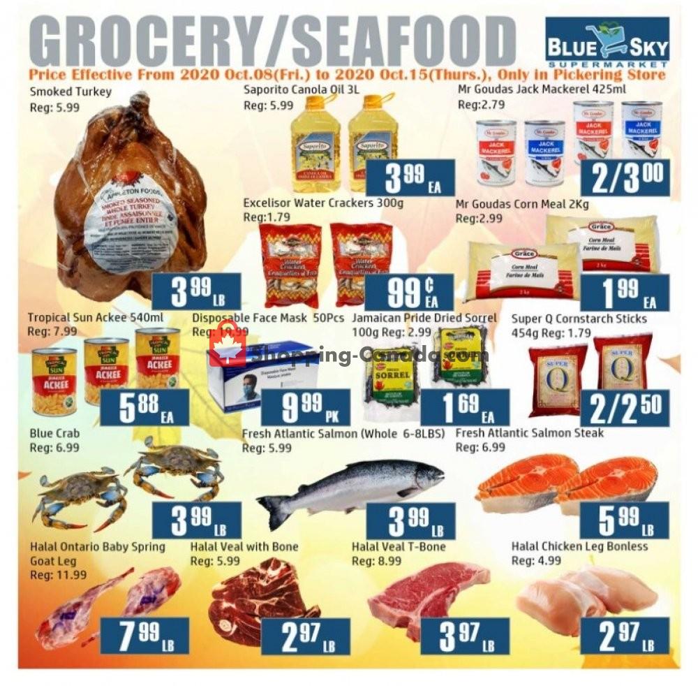 Flyer Blue Sky Supermarket Canada - from Friday October 9, 2020 to Thursday October 15, 2020