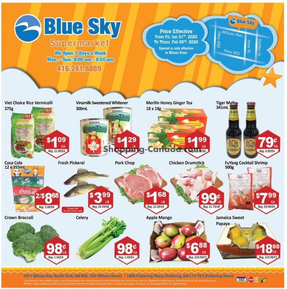 Flyer Blue Sky Supermarket Canada - from Friday January 31, 2020 to Thursday February 6, 2020