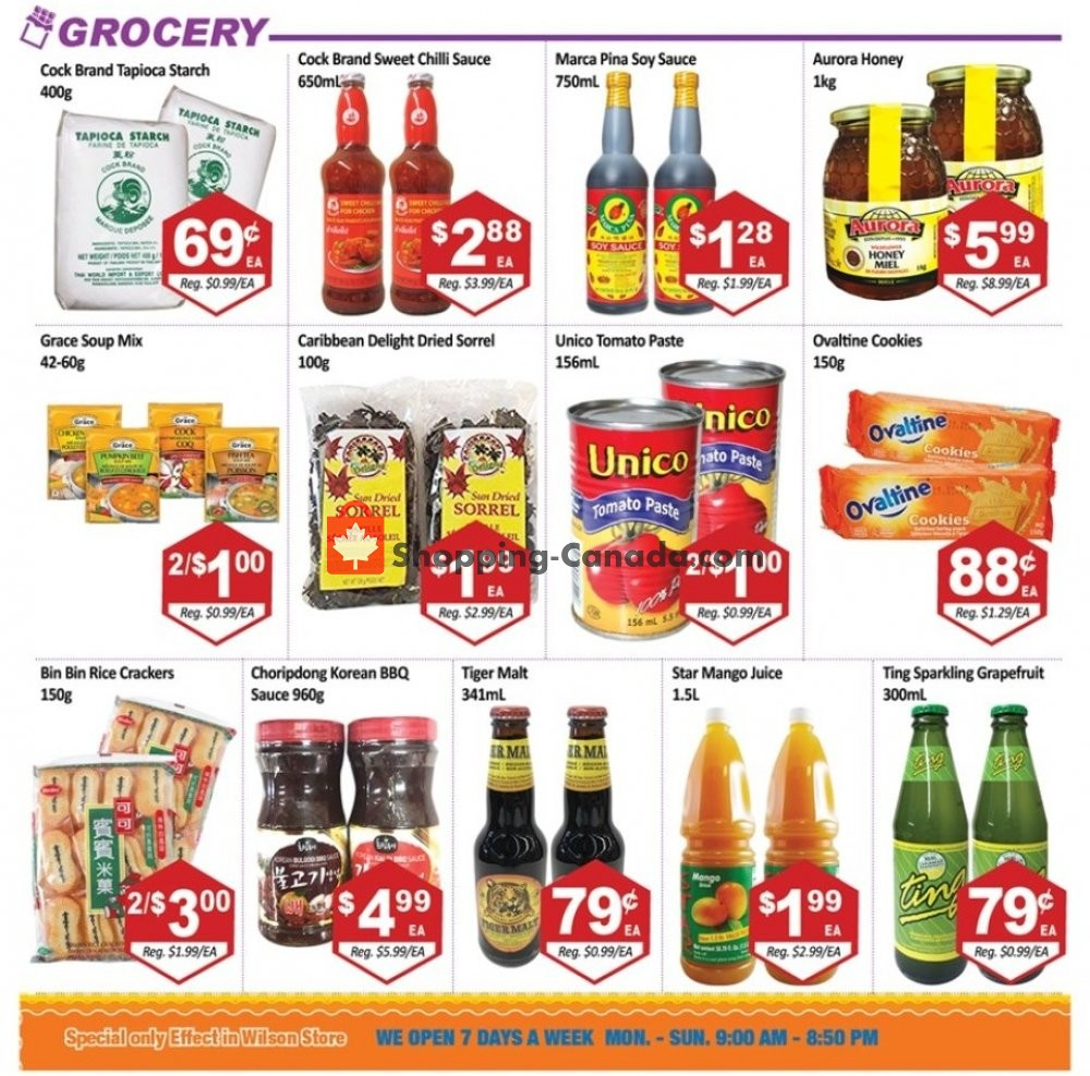 Flyer Blue Sky Supermarket Canada - from Friday August 9, 2019 to Thursday August 15, 2019