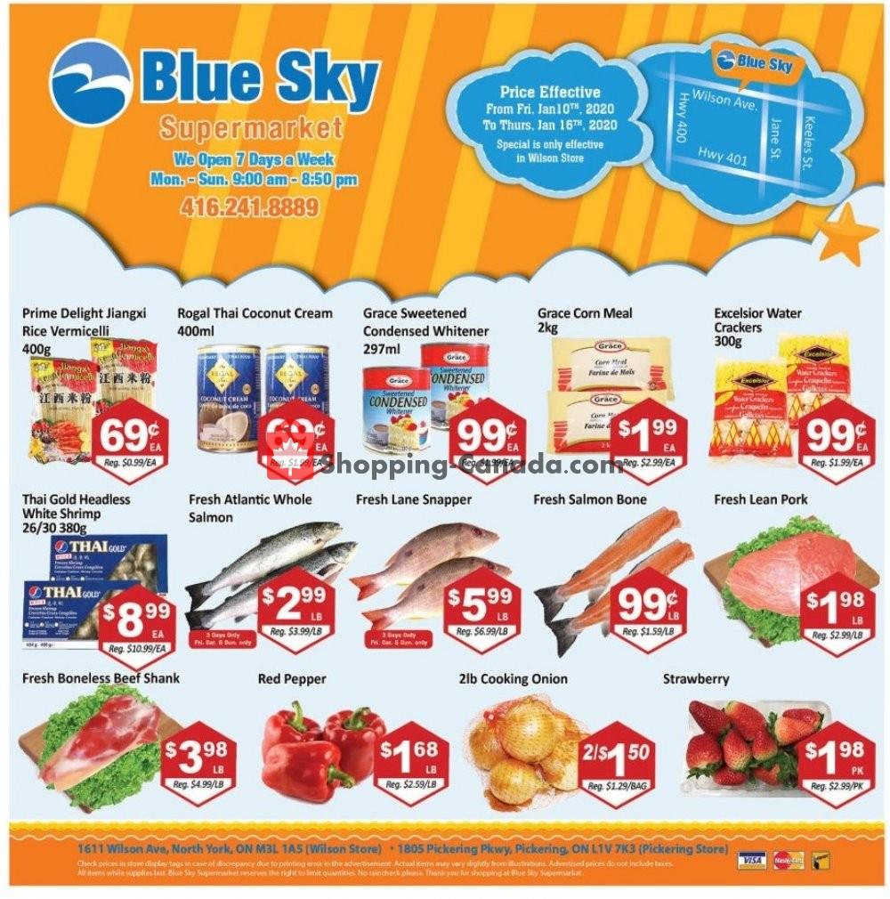 Flyer Blue Sky Supermarket Canada - from Friday January 10, 2020 to Thursday January 16, 2020