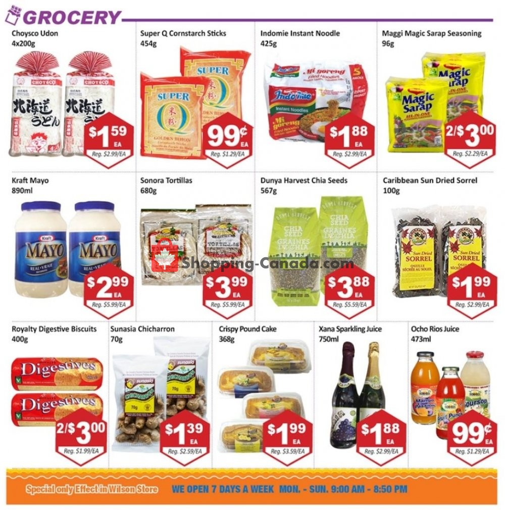 Flyer Blue Sky Supermarket Canada - from Friday November 8, 2019 to Thursday November 14, 2019