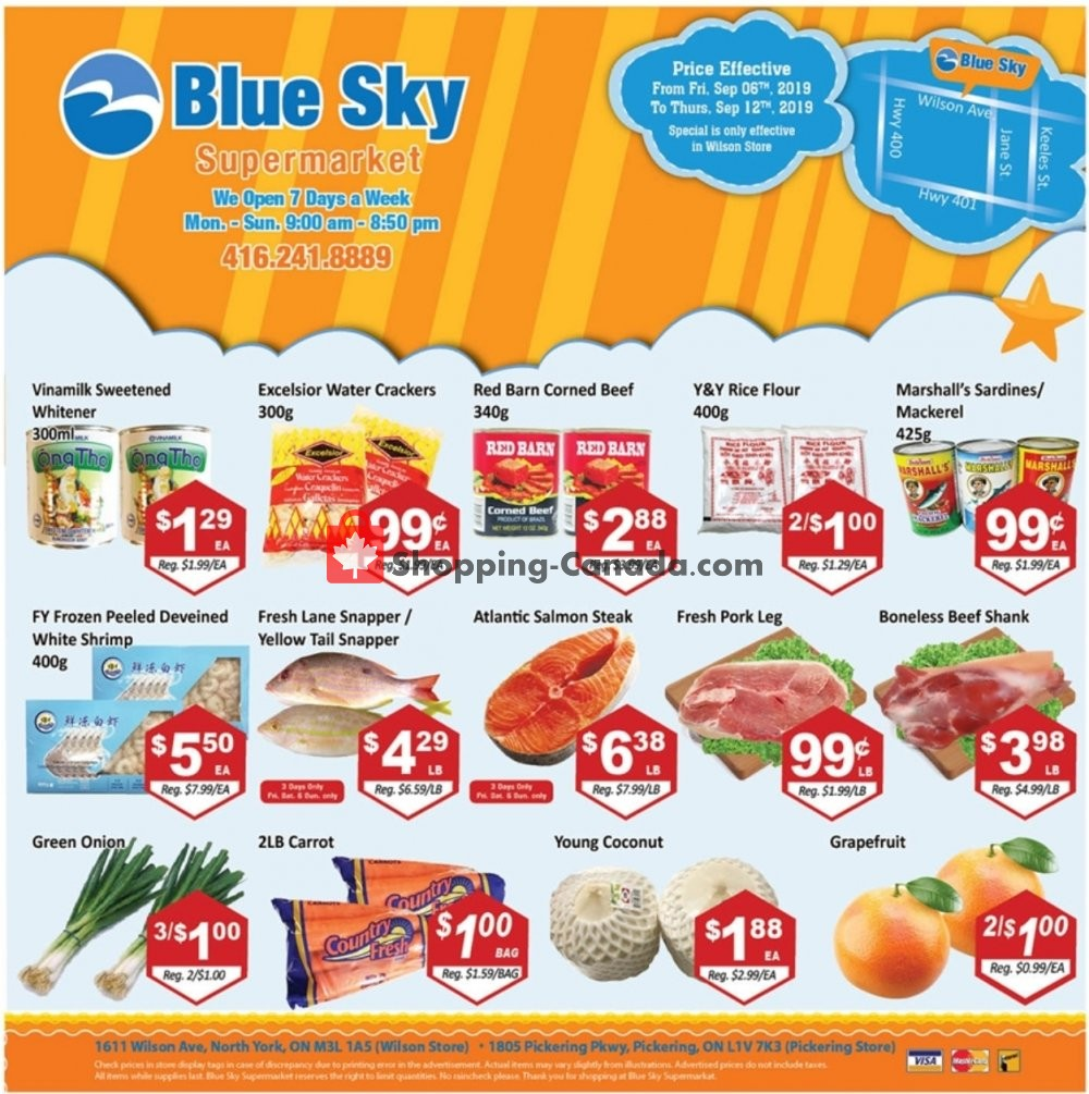 Flyer Blue Sky Supermarket Canada - from Friday September 6, 2019 to Thursday September 12, 2019