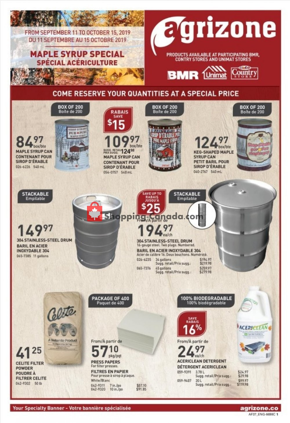 Flyer BMR Canada - from Wednesday September 11, 2019 to Tuesday October 15, 2019