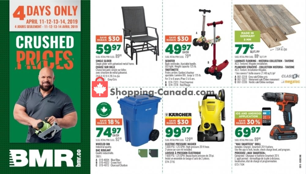 Flyer BMR Canada - from Thursday April 11, 2019 to Sunday April 14, 2019