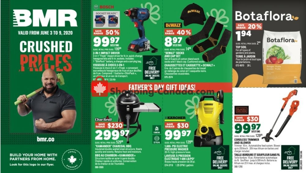 Flyer BMR Canada - from Wednesday June 3, 2020 to Tuesday June 9, 2020