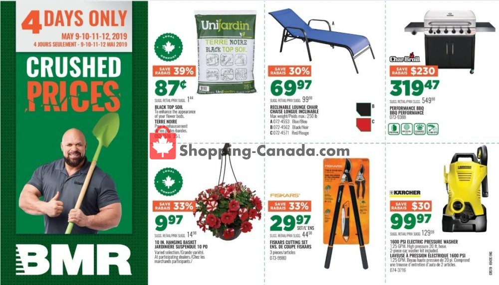 Flyer BMR Canada - from Thursday May 9, 2019 to Sunday May 12, 2019