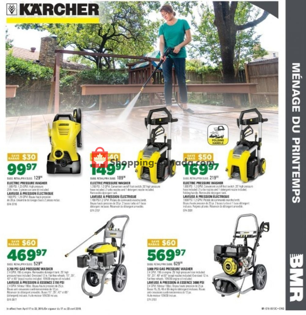 Flyer BMR Canada - from Wednesday April 17, 2019 to Tuesday April 23, 2019