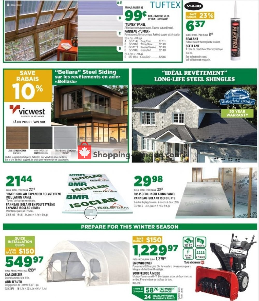 Flyer BMR Canada - from Wednesday October 2, 2019 to Tuesday October 8, 2019