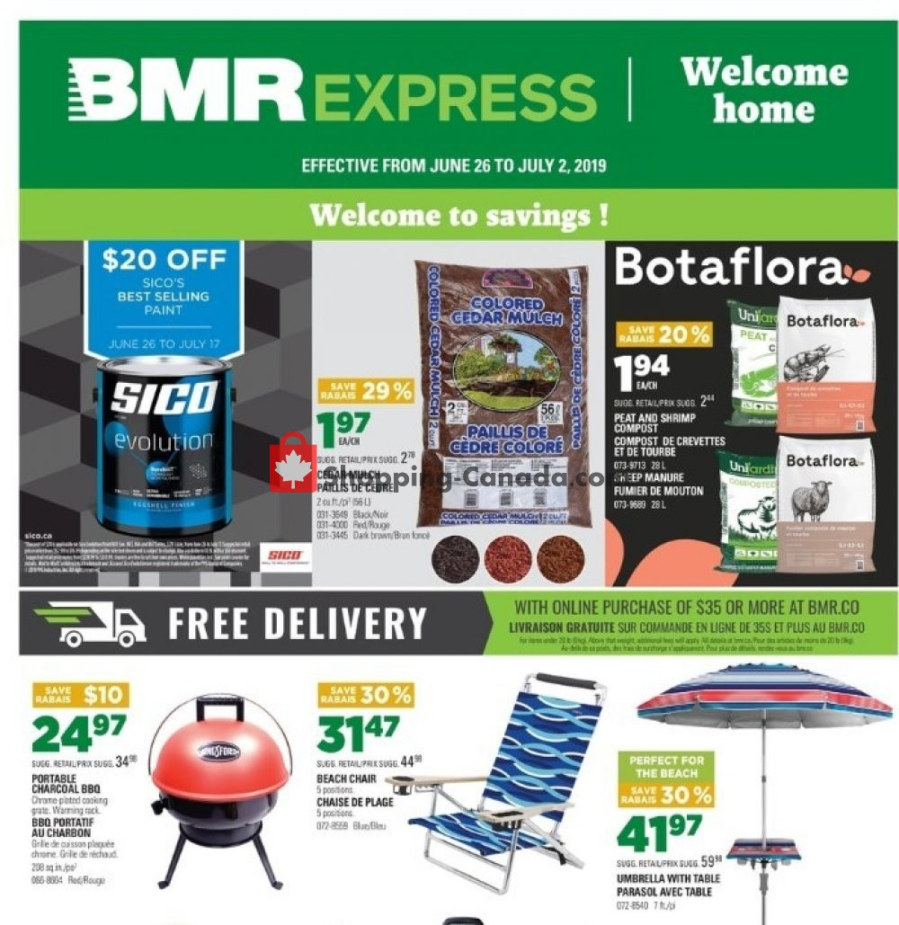 Flyer BMR Canada - from Wednesday June 26, 2019 to Tuesday July 2, 2019