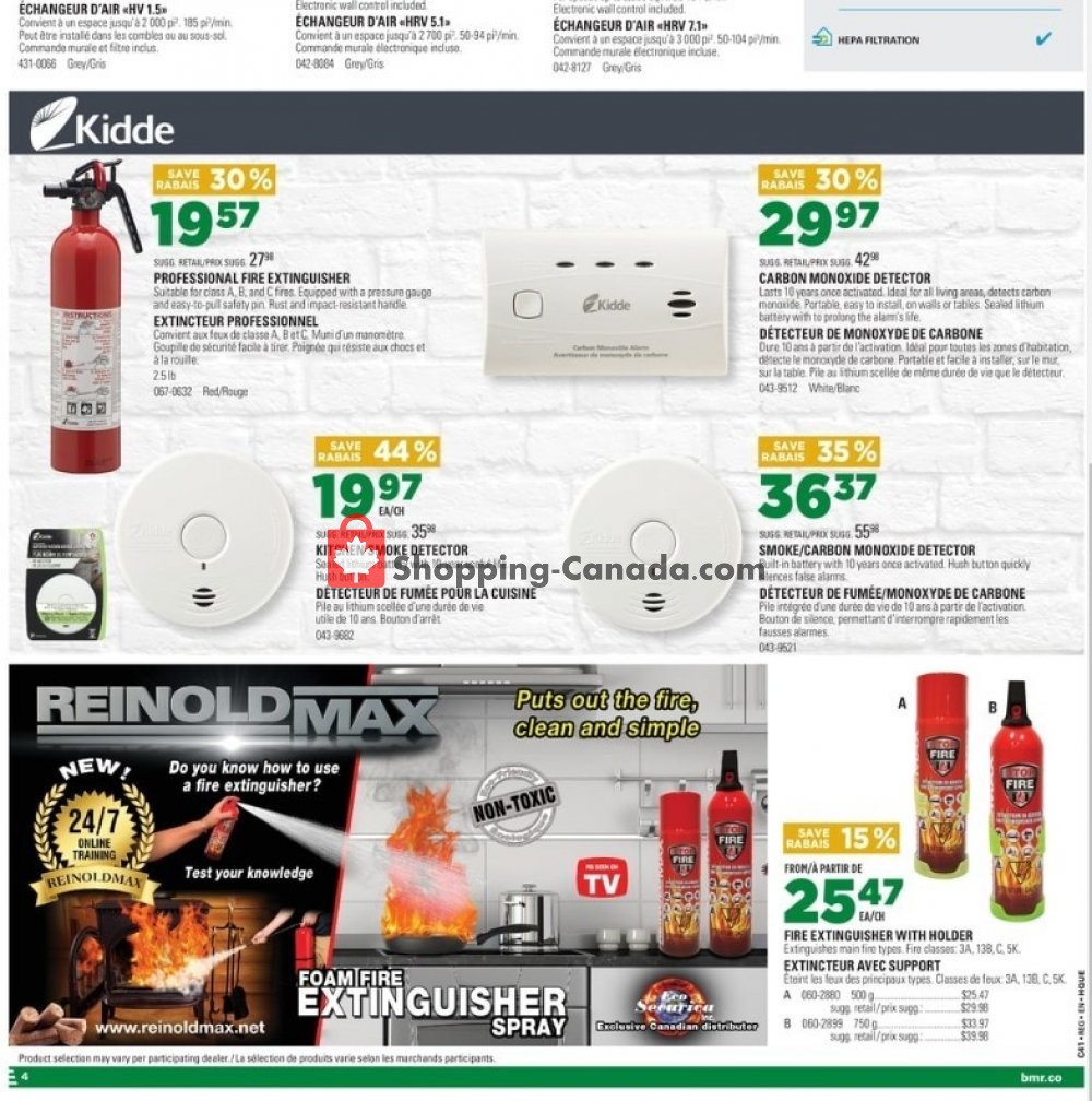 Flyer BMR Canada - from Wednesday October 9, 2019 to Tuesday October 15, 2019