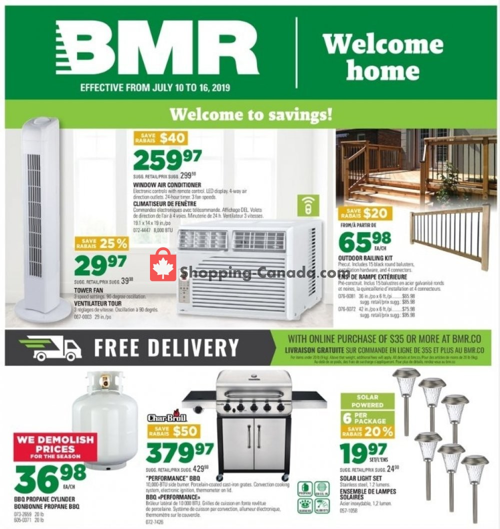 Flyer BMR Canada - from Wednesday July 10, 2019 to Tuesday July 16, 2019