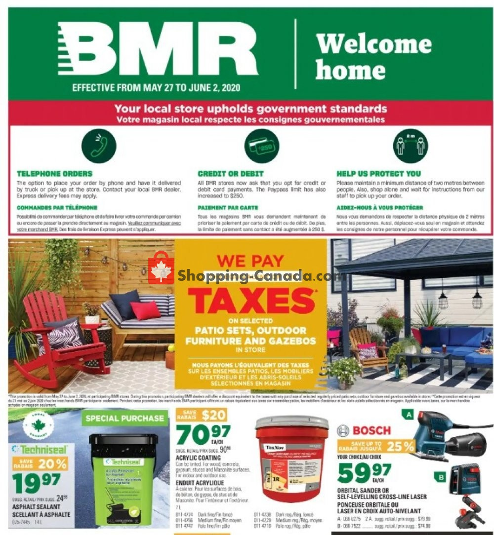 Flyer BMR Canada - from Wednesday May 27, 2020 to Tuesday June 2, 2020