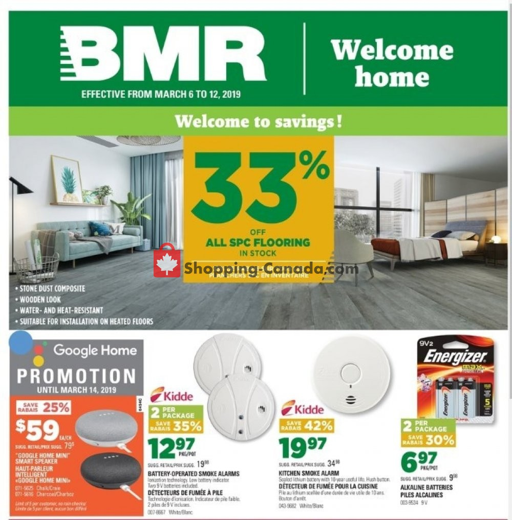 Flyer BMR Canada - from Wednesday March 6, 2019 to Tuesday March 12, 2019