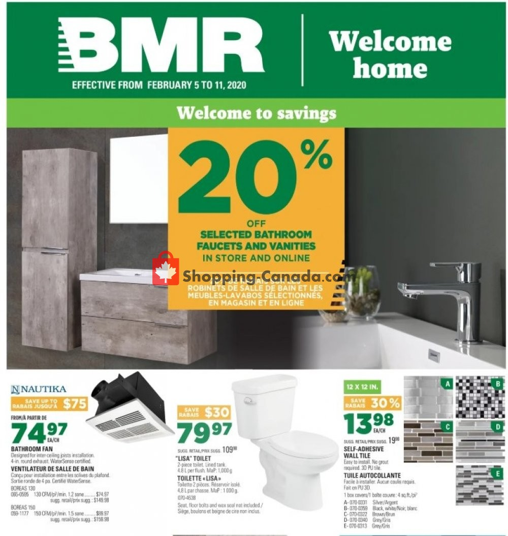 Flyer BMR Canada - from Wednesday February 5, 2020 to Tuesday February 11, 2020