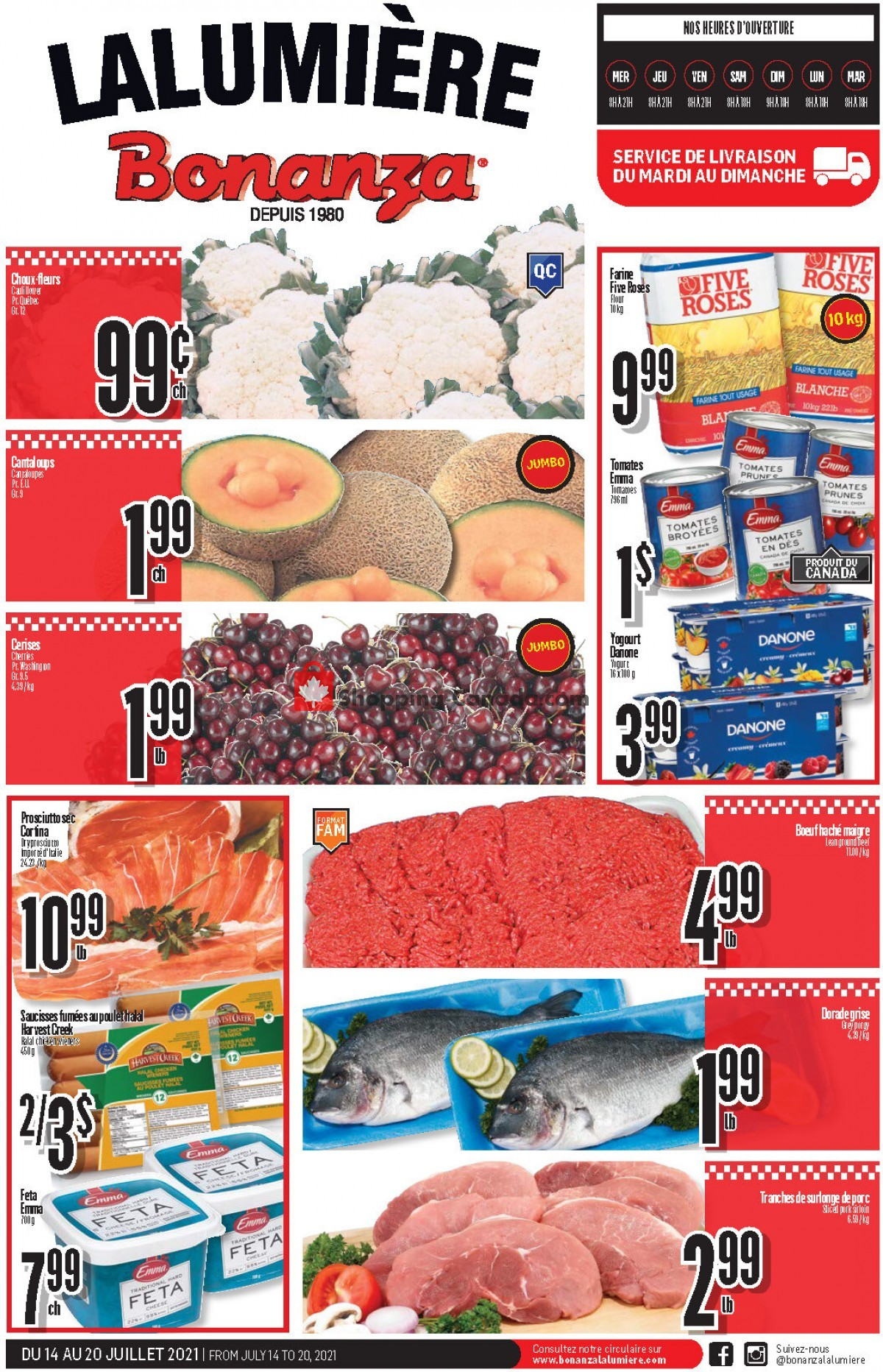 Flyer Bonanza Canada - from Wednesday July 14, 2021 to Tuesday July 20, 2021