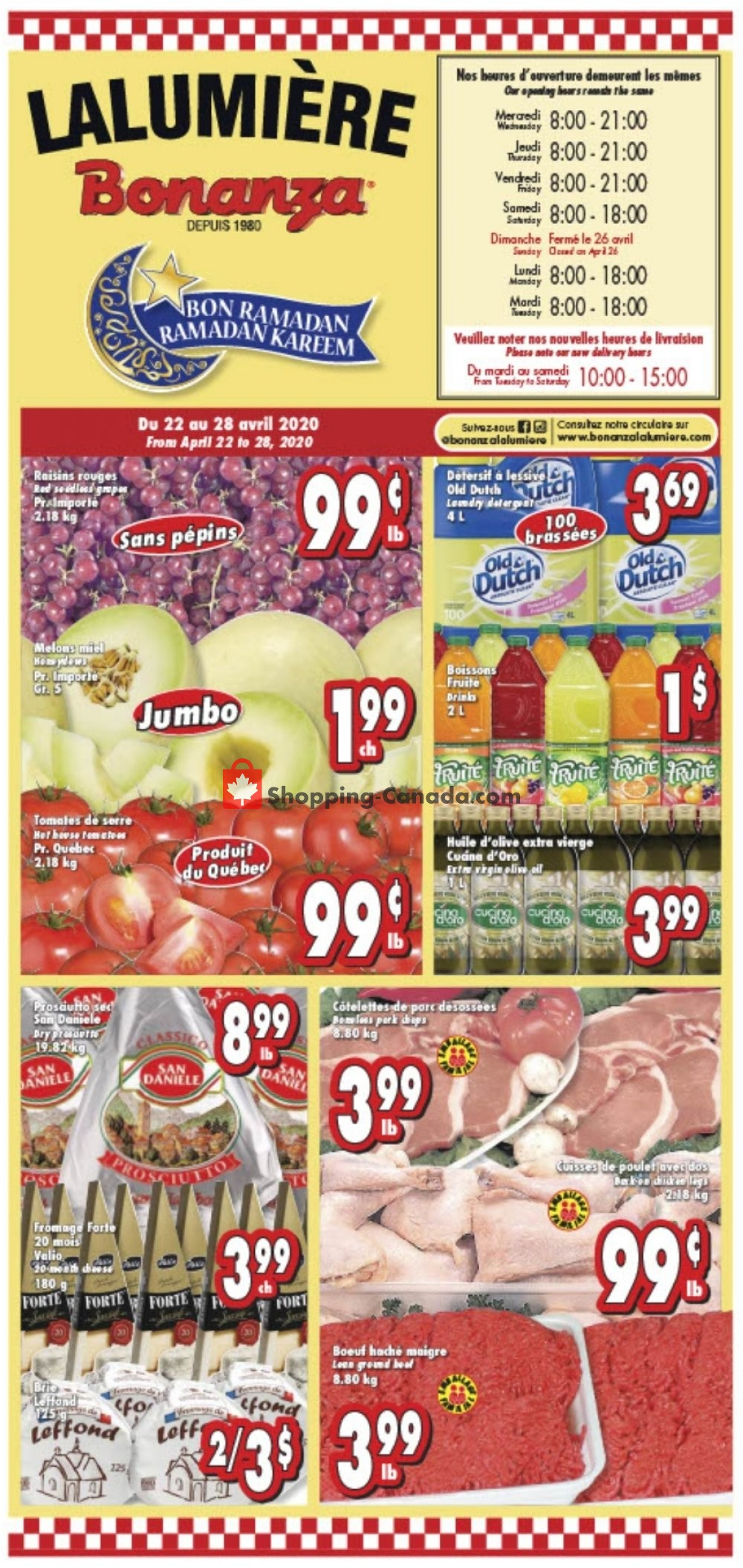 Flyer Bonanza Canada - from Wednesday April 22, 2020 to Tuesday April 28, 2020