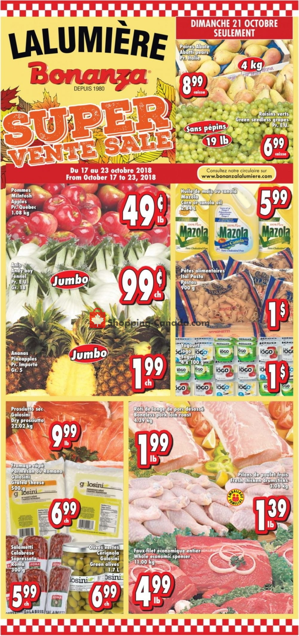 Flyer Bonanza Canada - from Wednesday October 17, 2018 to Tuesday October 23, 2018
