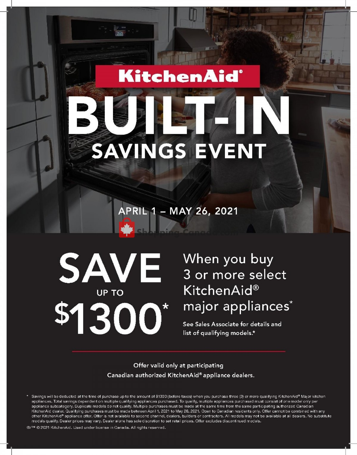 Flyer Bonanza Furniture Canada - from Thursday April 1, 2021 to Wednesday May 26, 2021