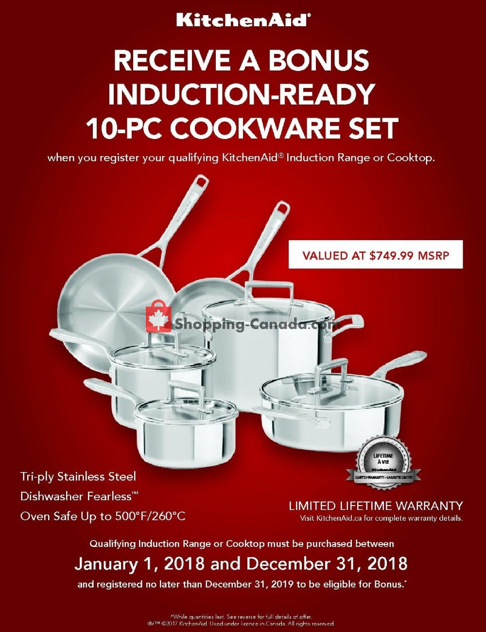 Flyer Bonanza Furniture Canada - from Monday January 1, 2018 to Monday December 31, 2018
