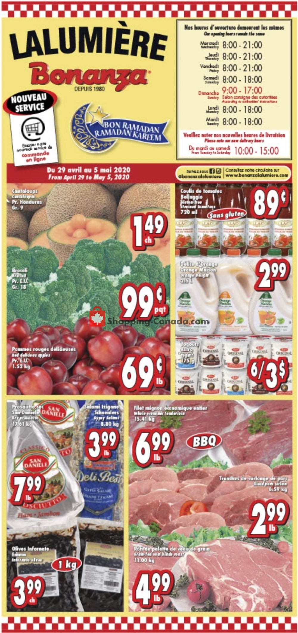 Flyer Bonanza Canada - from Wednesday April 29, 2020 to Tuesday May 5, 2020