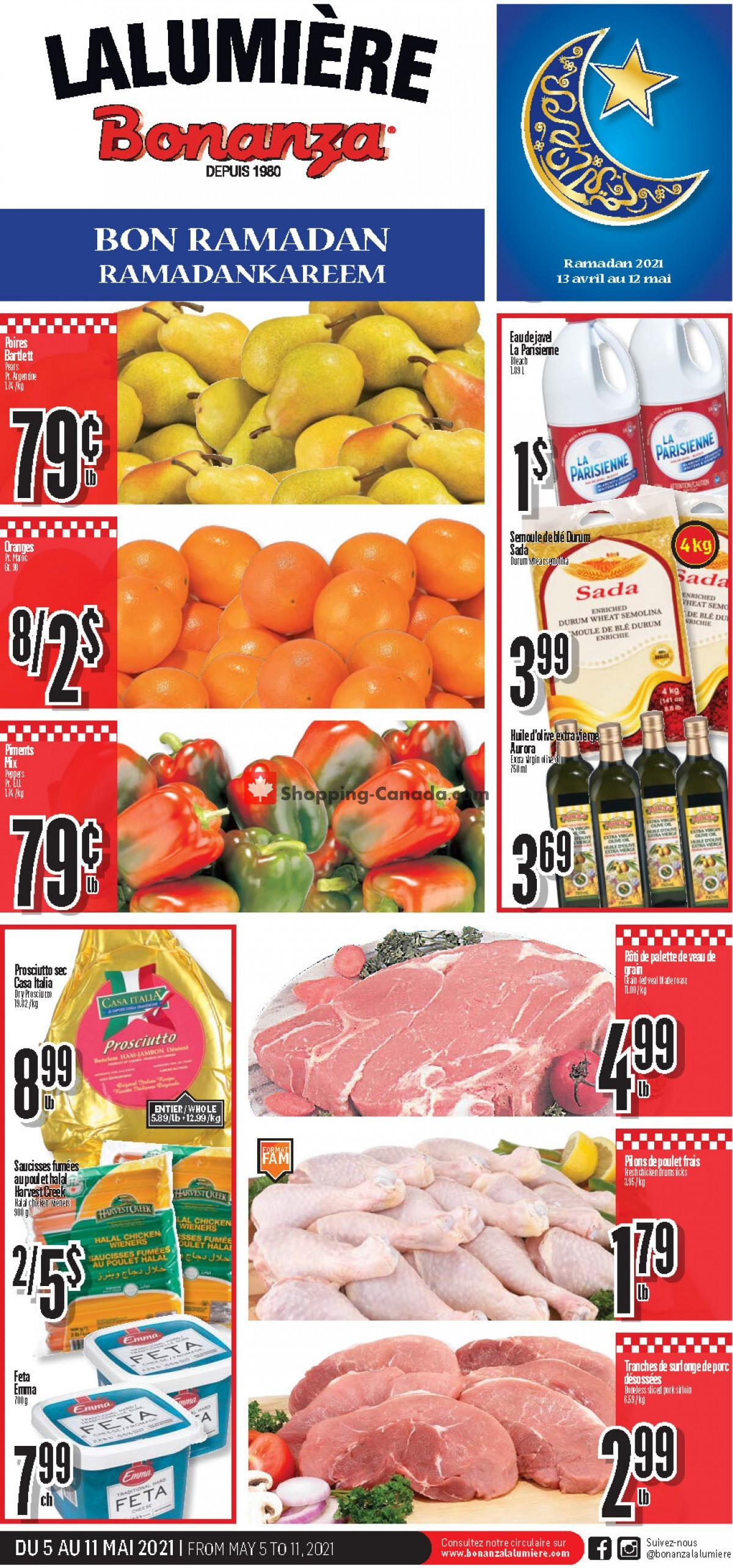 Flyer Bonanza Canada - from Wednesday May 5, 2021 to Tuesday May 11, 2021