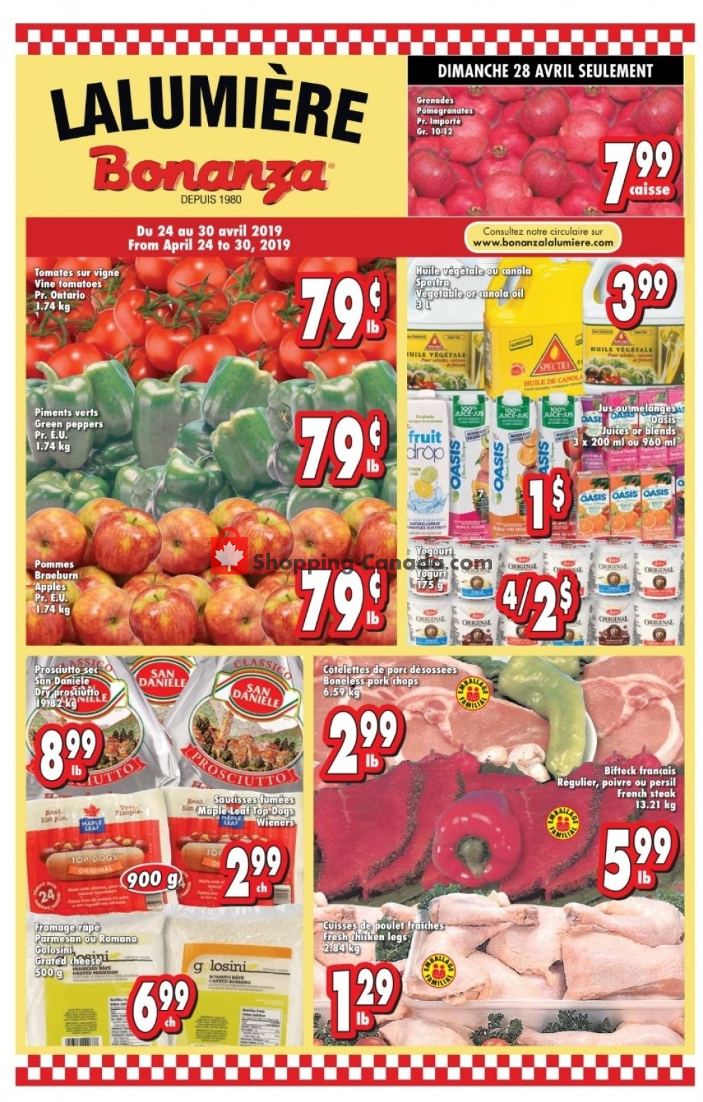 Flyer Bonanza Canada - from Wednesday April 24, 2019 to Tuesday April 30, 2019