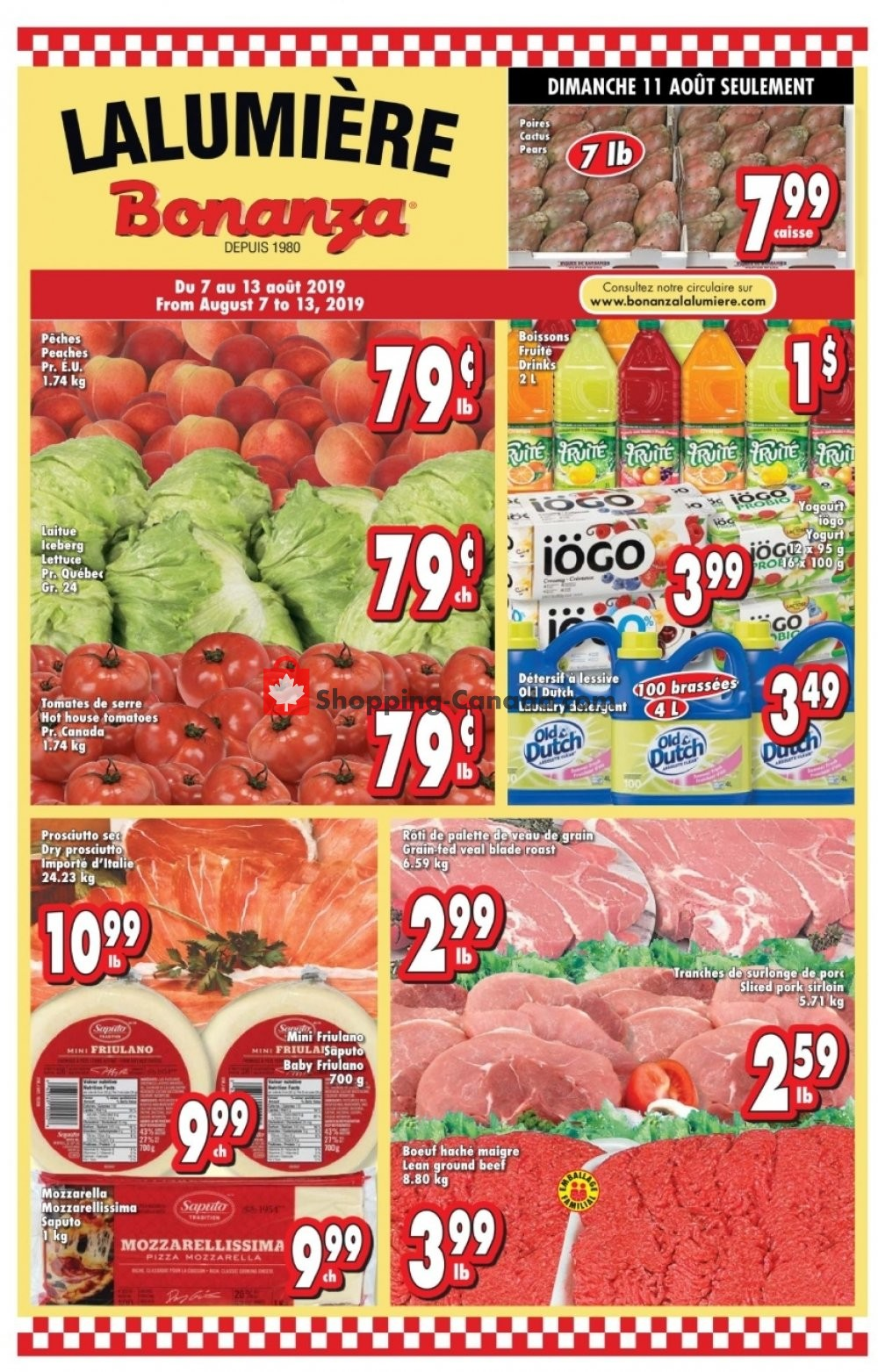 Flyer Bonanza Canada - from Wednesday August 7, 2019 to Tuesday August 13, 2019