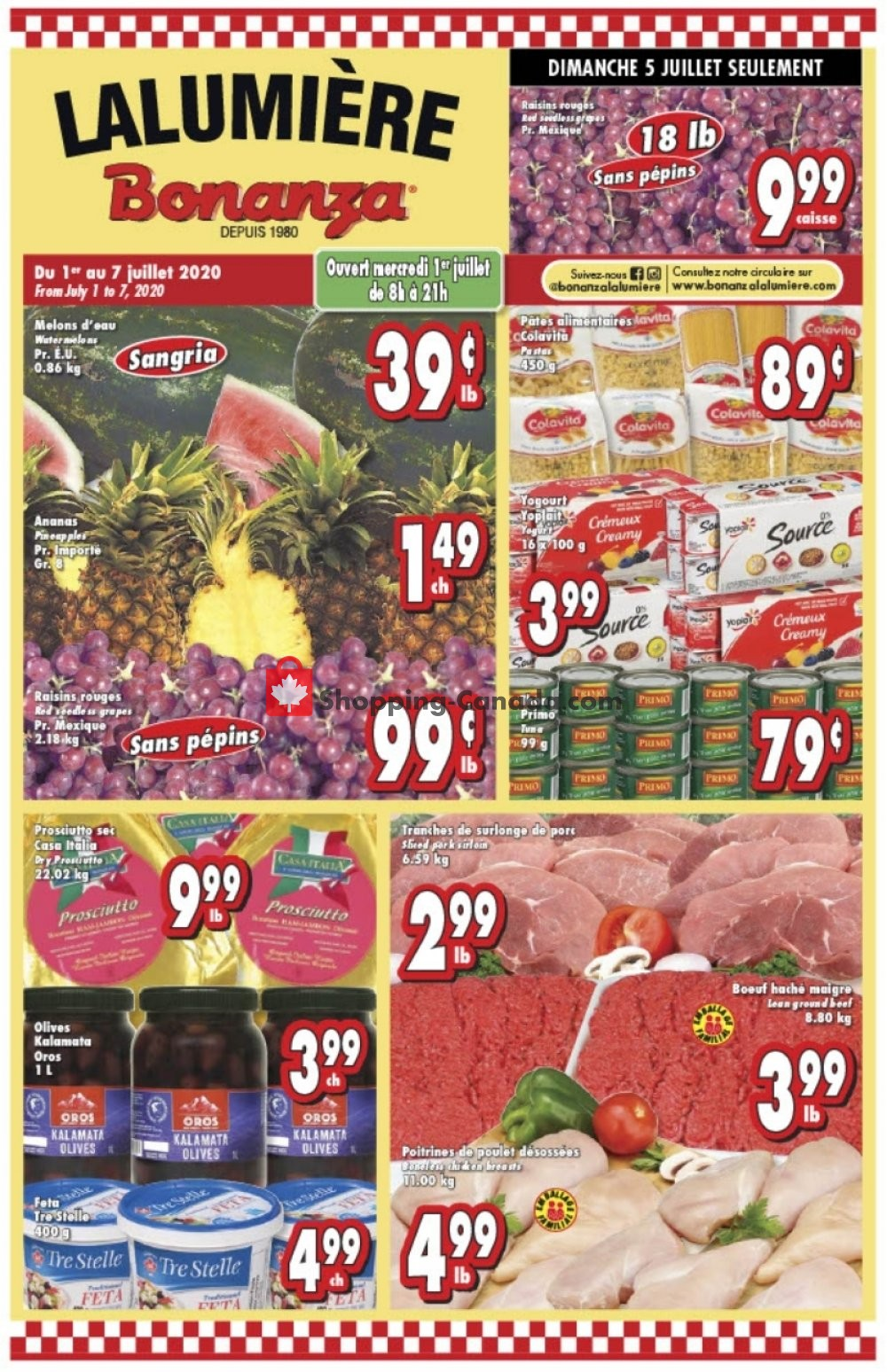Flyer Bonanza Canada - from Wednesday July 1, 2020 to Tuesday July 7, 2020