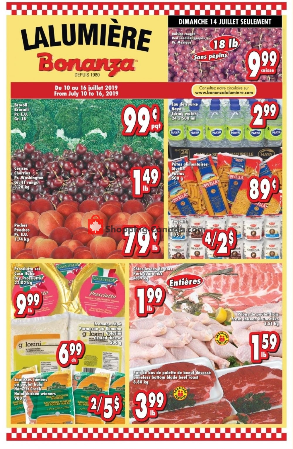 Flyer Bonanza Canada - from Wednesday July 10, 2019 to Tuesday July 16, 2019