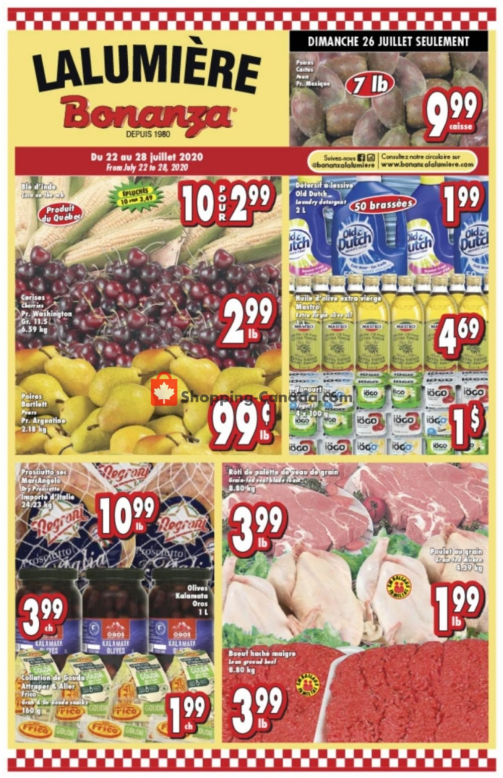 Flyer Bonanza Canada - from Wednesday July 22, 2020 to Tuesday July 28, 2020