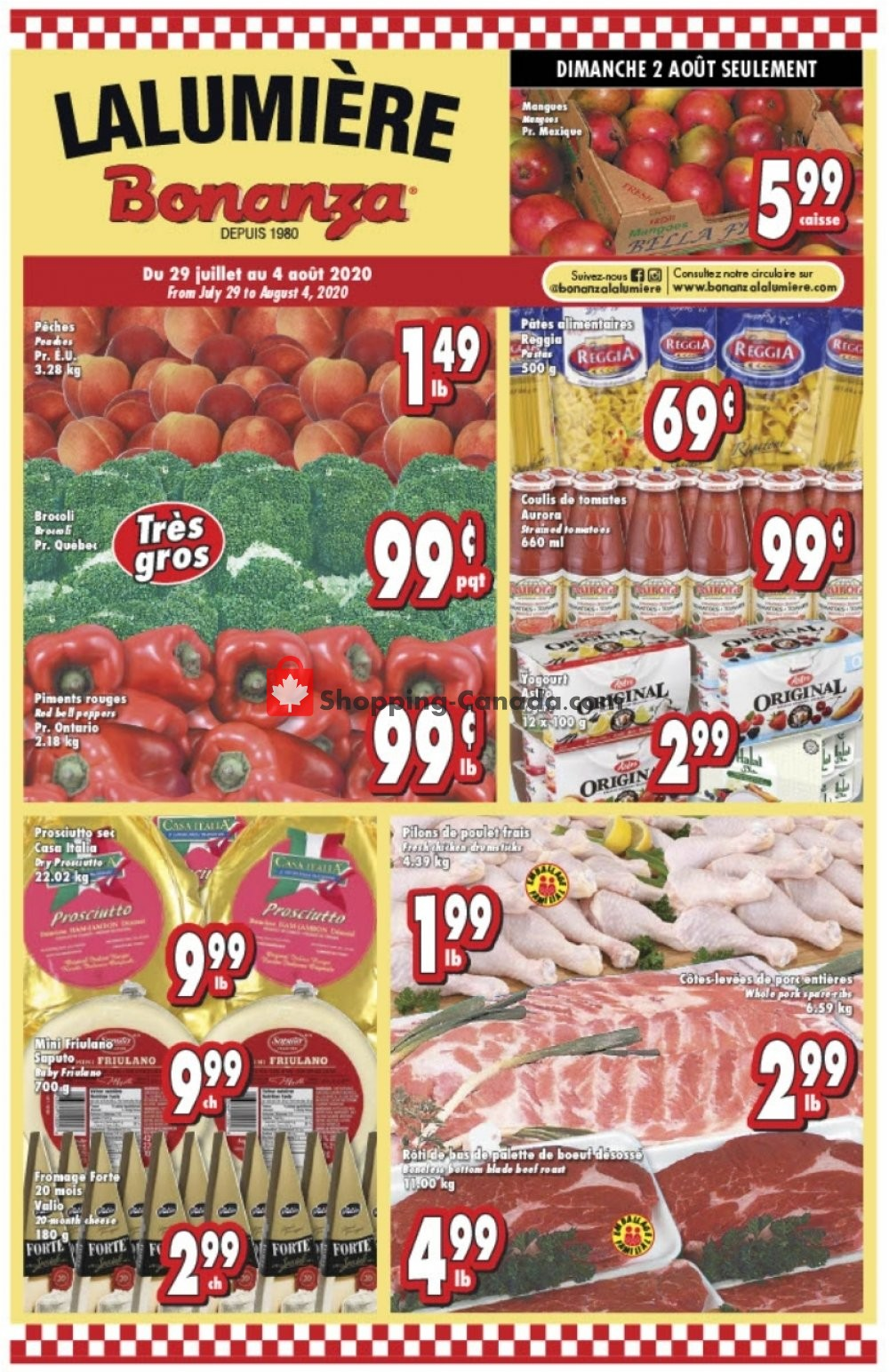 Flyer Bonanza Canada - from Wednesday July 29, 2020 to Tuesday August 4, 2020