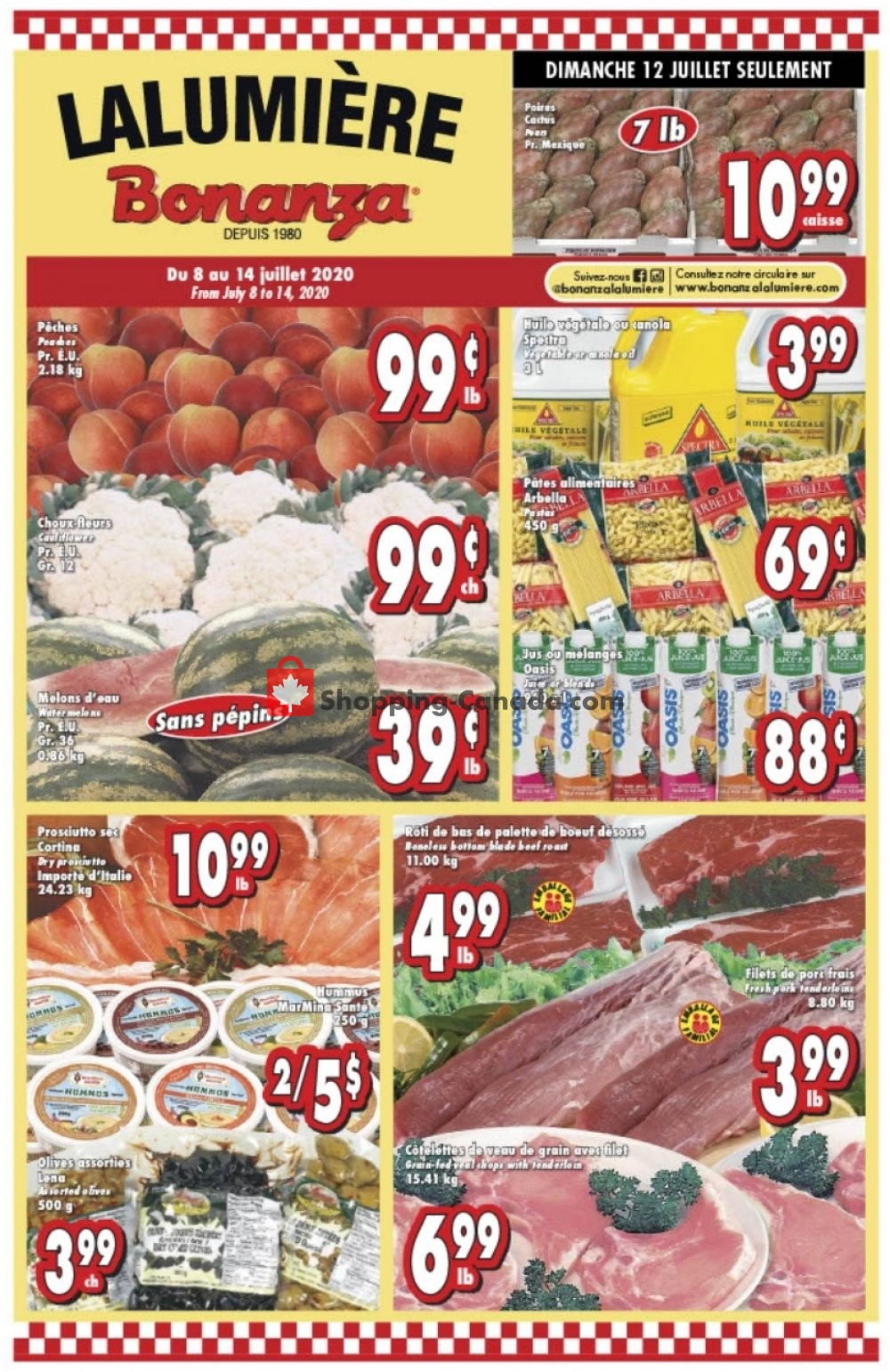 Flyer Bonanza Canada - from Wednesday July 8, 2020 to Tuesday July 14, 2020