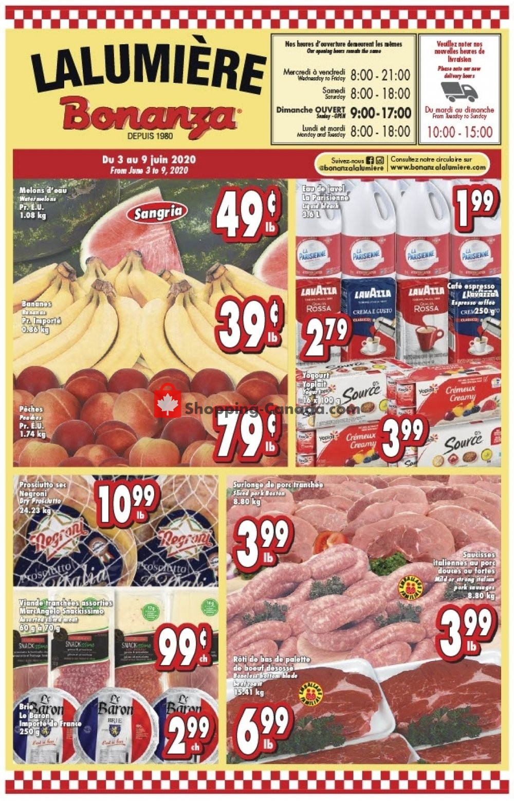 Flyer Bonanza Canada - from Wednesday June 3, 2020 to Tuesday June 9, 2020