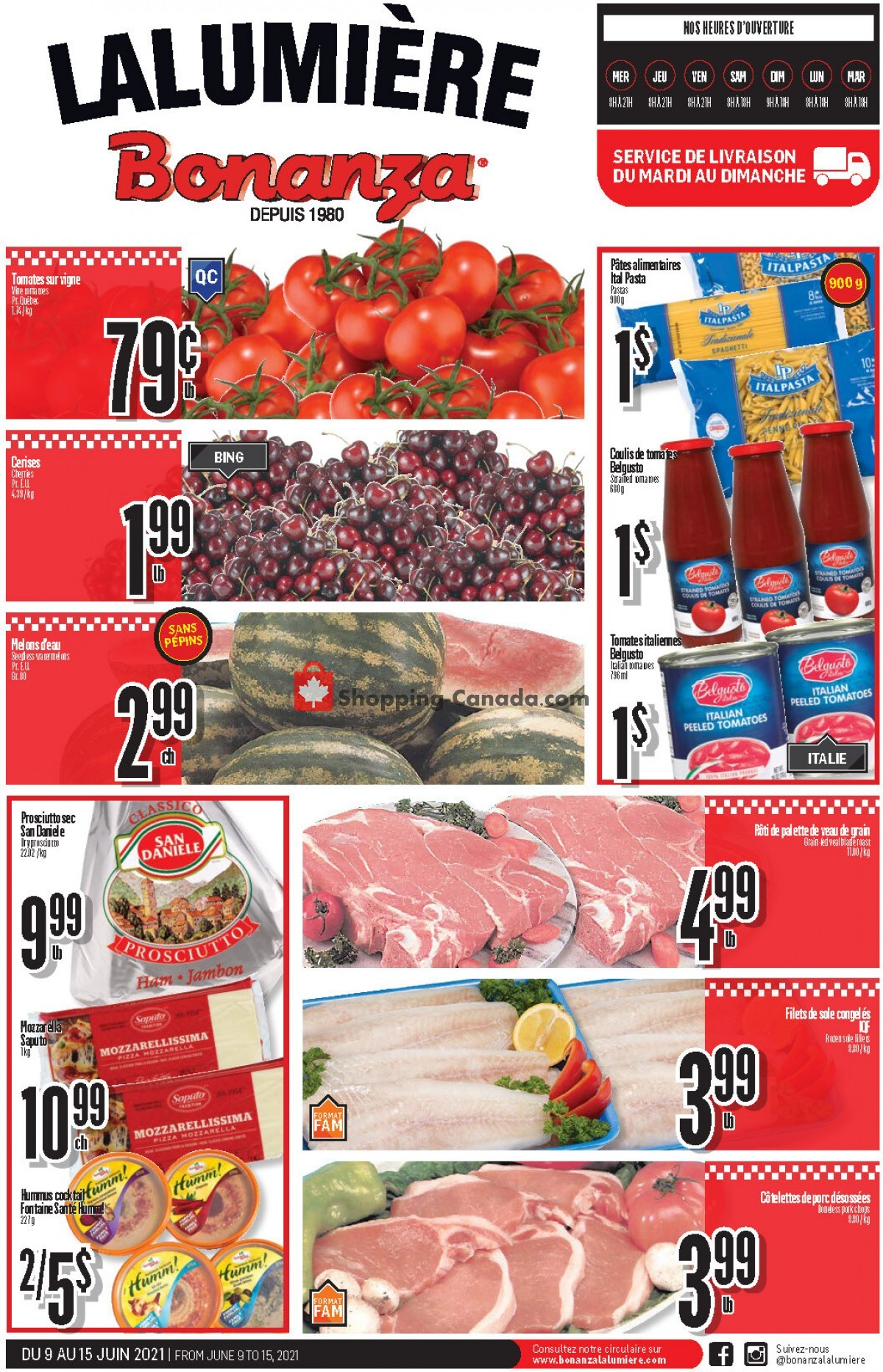 Flyer Bonanza Canada - from Wednesday June 9, 2021 to Tuesday June 15, 2021