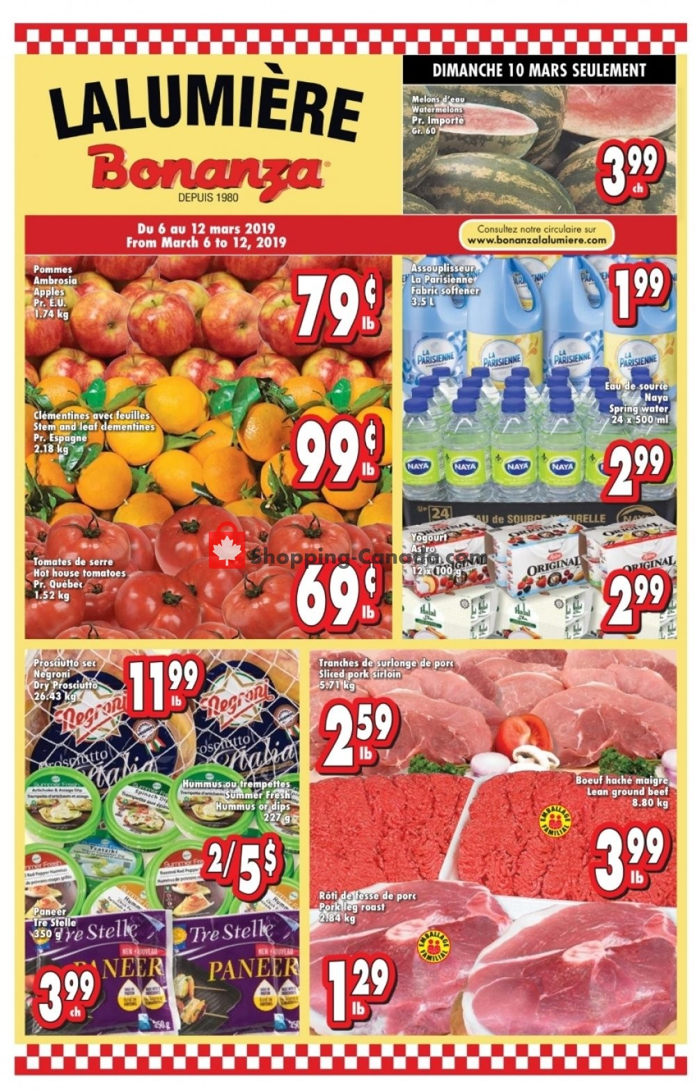 Flyer Bonanza Canada - from Wednesday March 6, 2019 to Tuesday March 12, 2019